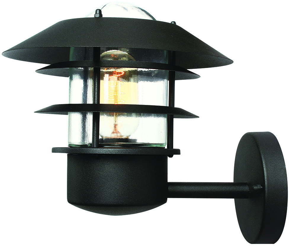 Kinkiet zewnętrzny Helsingor BK Elstead Lighting czarna oprawa w nowoczesnym stylu