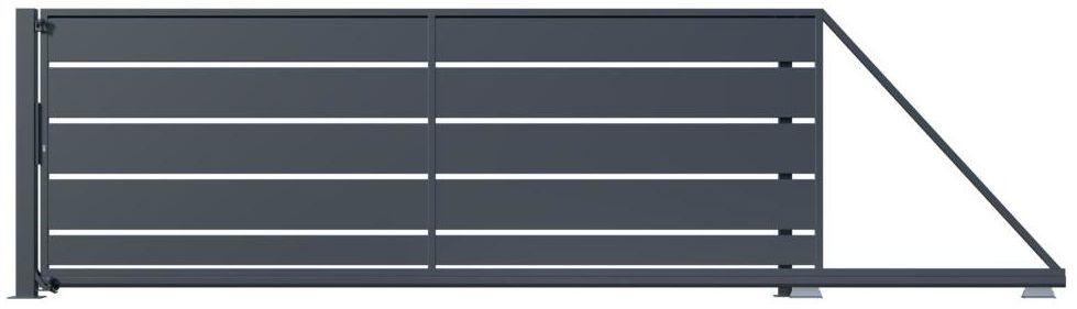 Brama przesuwna OPAL 400 x 149.5 cm prawa POLARGOS