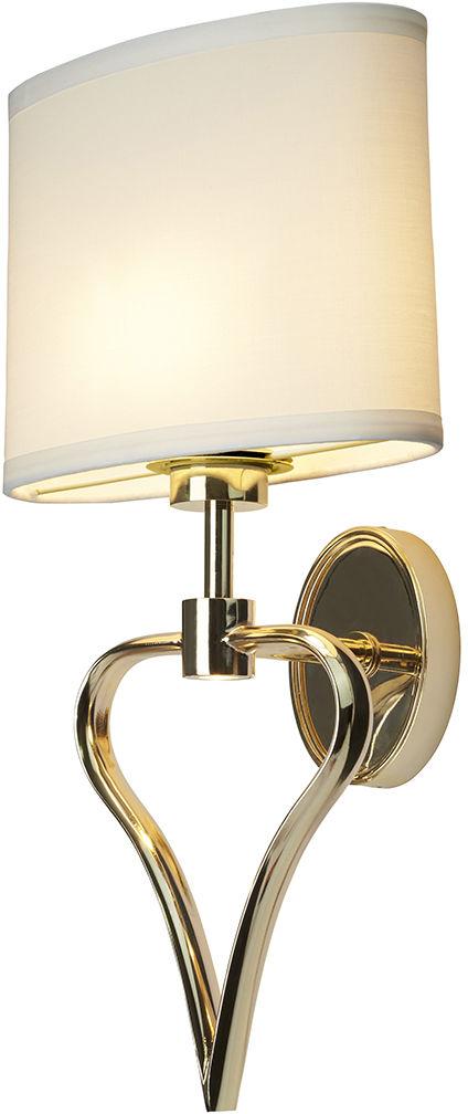 Kinkiet Falmouth BATH/FALMOUTH FG Elstead Lighting dekoracyjna oprawa w kolorze biało-złotym
