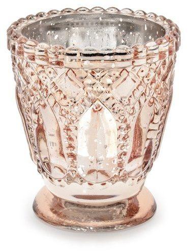 Świecznik różowe złoto 8cm 1 sztuka SS1-019R
