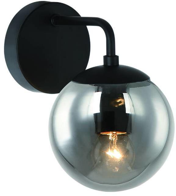 Kinkiet Bao Parette Nero Fume Orlicki Design czarna oprawa w stylu nowoczesnym