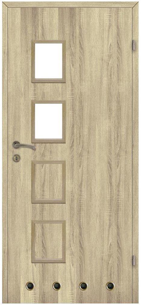 Skrzydło drzwiowe z tulejami wentylacyjnymi Simon Dąb sonoma 90 Prawe Classen