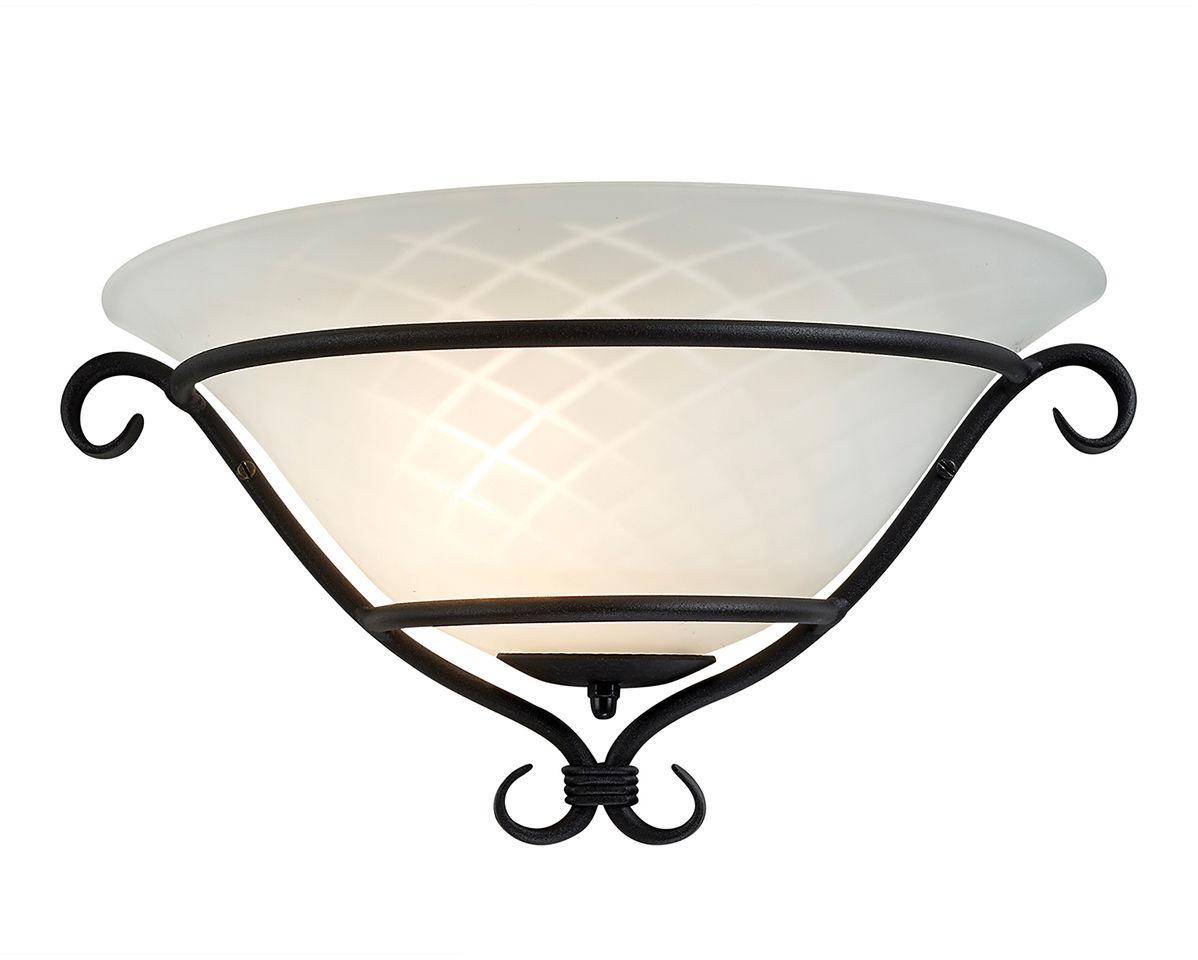 Kinkiet Torchiere TCH/WU BLK Elstead Lighting klasyczna oprawa w kolorze czarno-białym