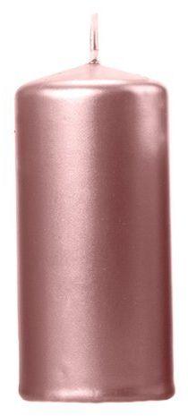 Świeca klubowa walec rose gold 12cm metaliczna 1 sztuka SKKMET-019R