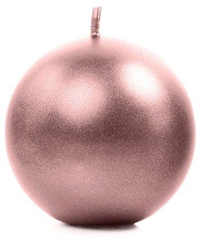 Świeca kula rose gold 8cm metaliczna 1 sztuka SKUMET80-019R-1x