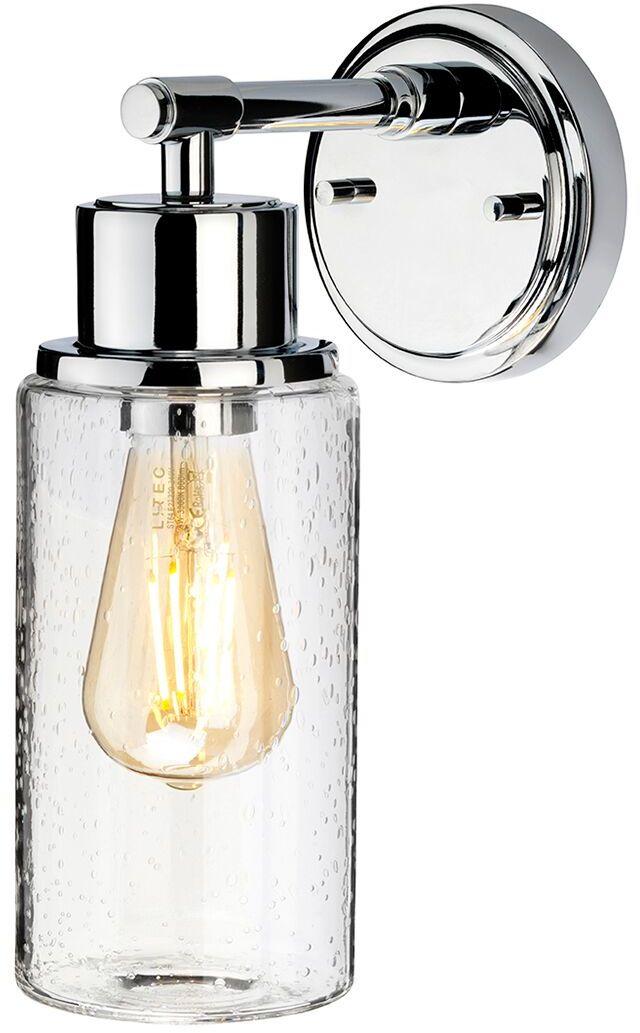 Kinkiet łazienkowy Morvah PC Elstead Lighting nowoczesna oprawa w kolorze polerowanego chromu