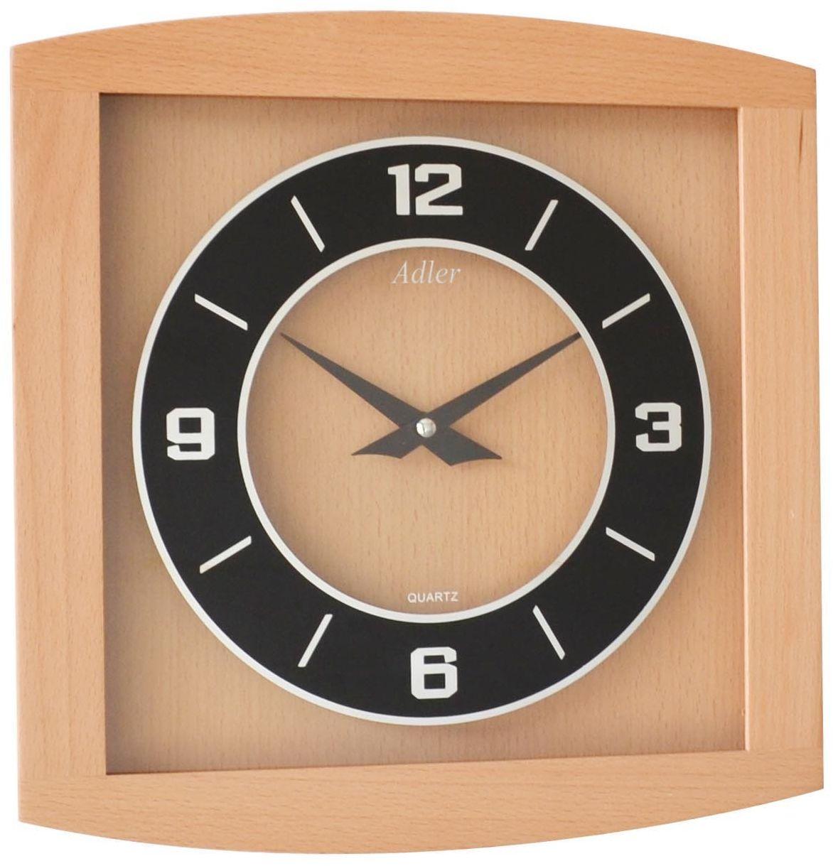 Zegar ścienny drewniany kwarcowy Adler 21176