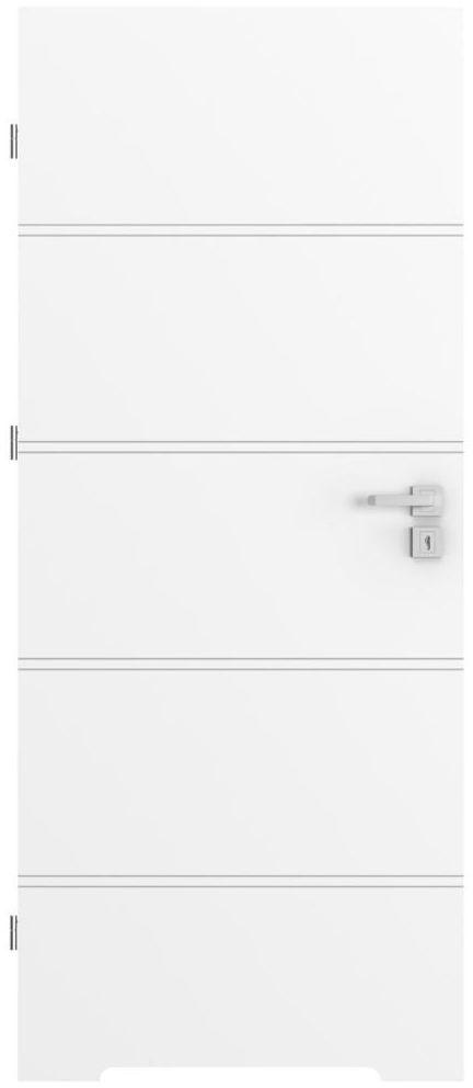 Skrzydło drzwiowe z podcięciem wentylacyjnym Trim Białe 80 Lewe Porta