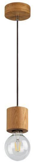 SPOTLIGHT lampa wisząca TRONGO ROUND z drewna dębowego 7061174