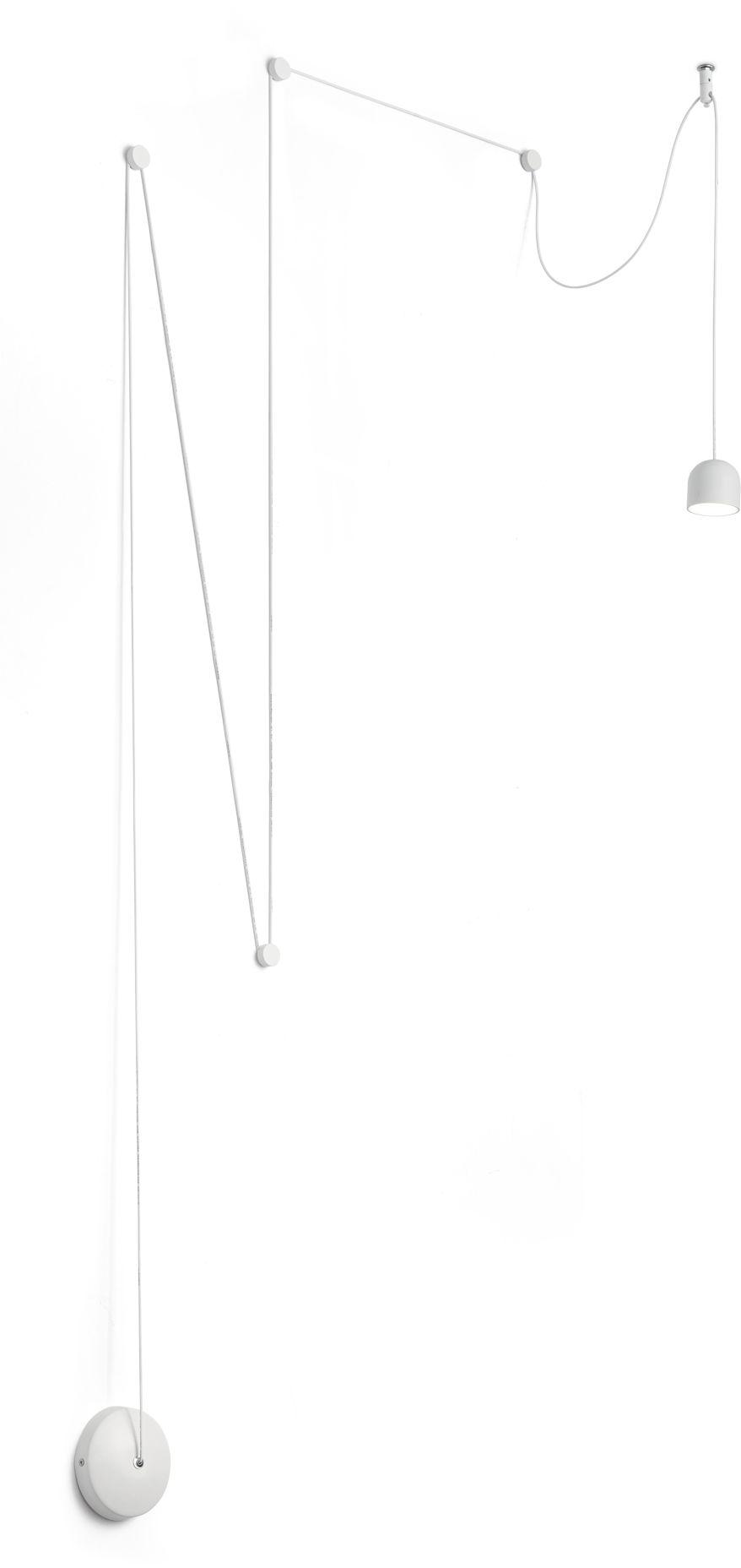 Żyrandol Tall Sp1 Small 196794 Ideal Lux oprawa wisząca w kolorze białym