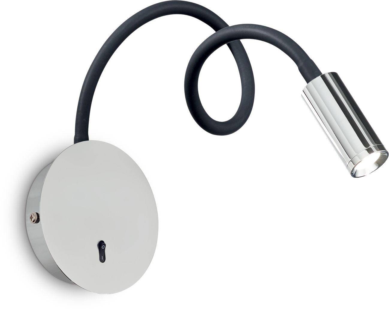 Kinkiet Focus-2 AP1 203188 Ideal Lux nowoczesna lampa ścienna w kolorze chromu
