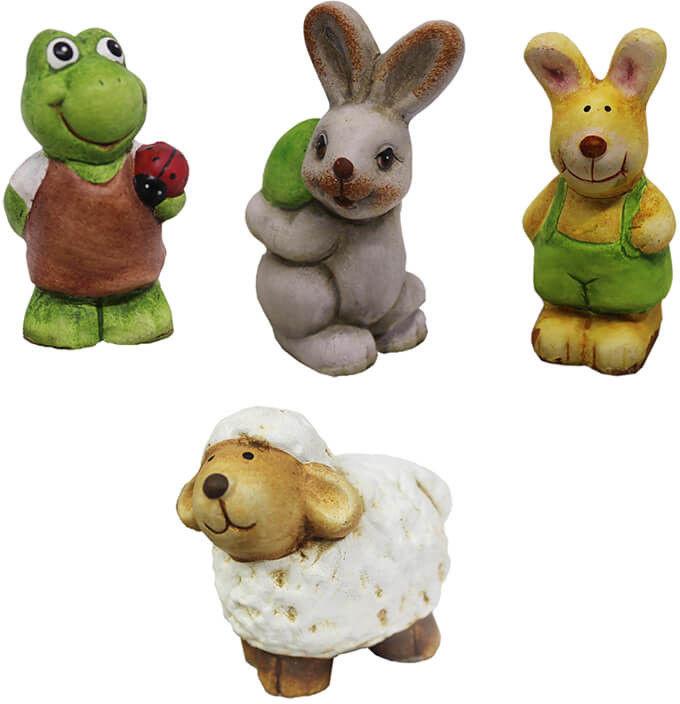 Ceramiczne zwierzątko w zagrodzie 6 cm