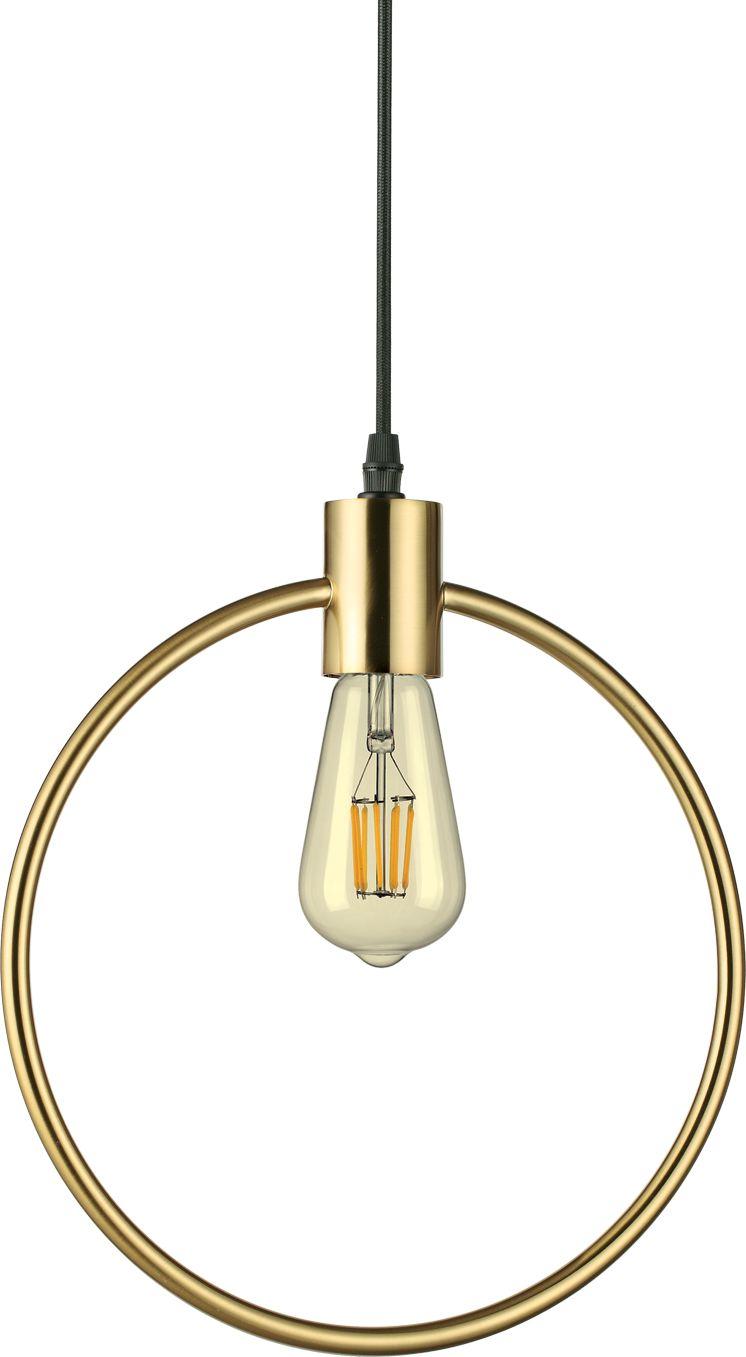 Lampa wisząca Abc SP1 Round 207841 Ideal Lux mosiężna oprawa w stylu design