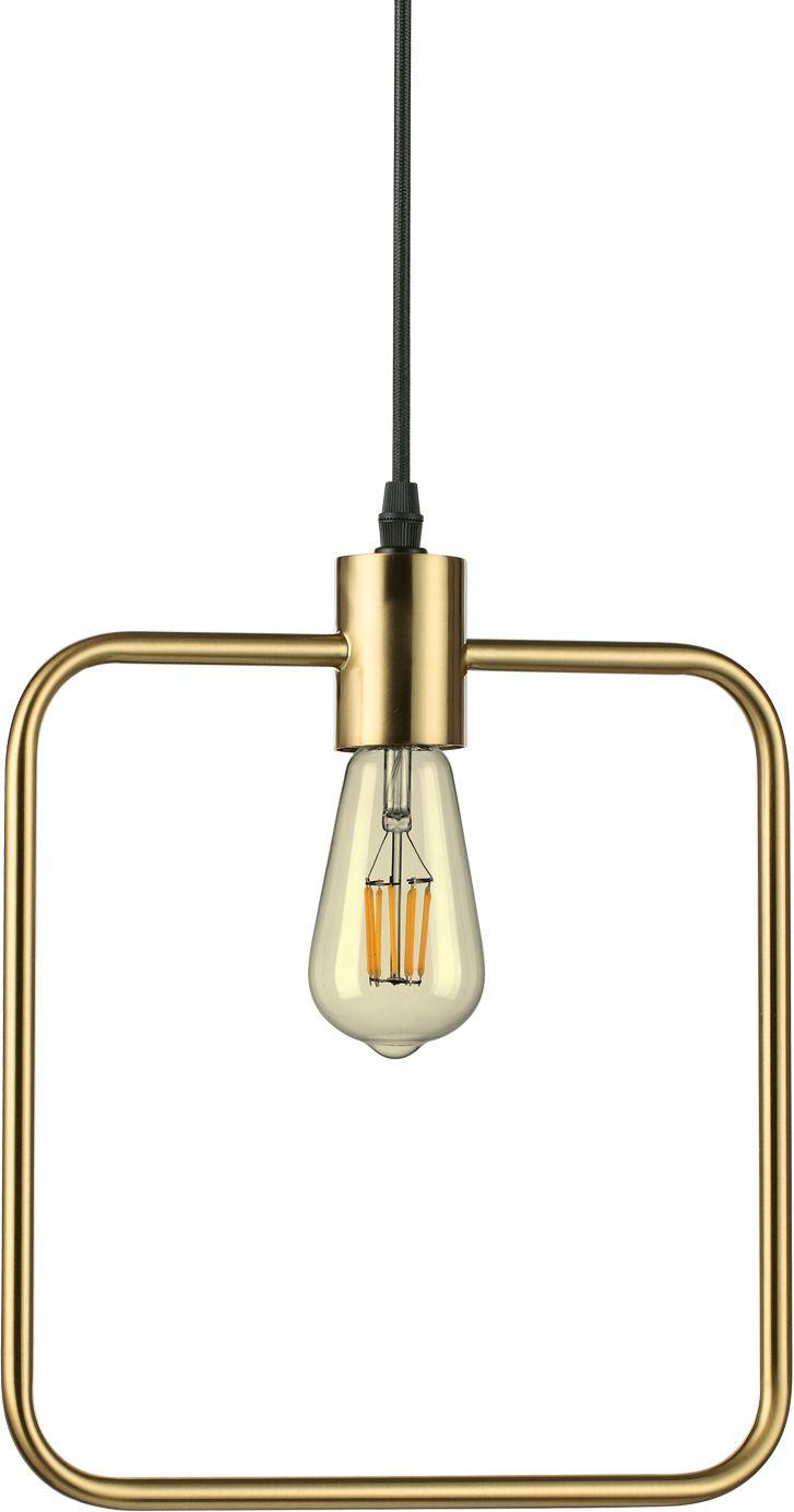 Lampa wisząca Abc SP1 Square 207858 Ideal Lux mosiężna oprawa w stylu design