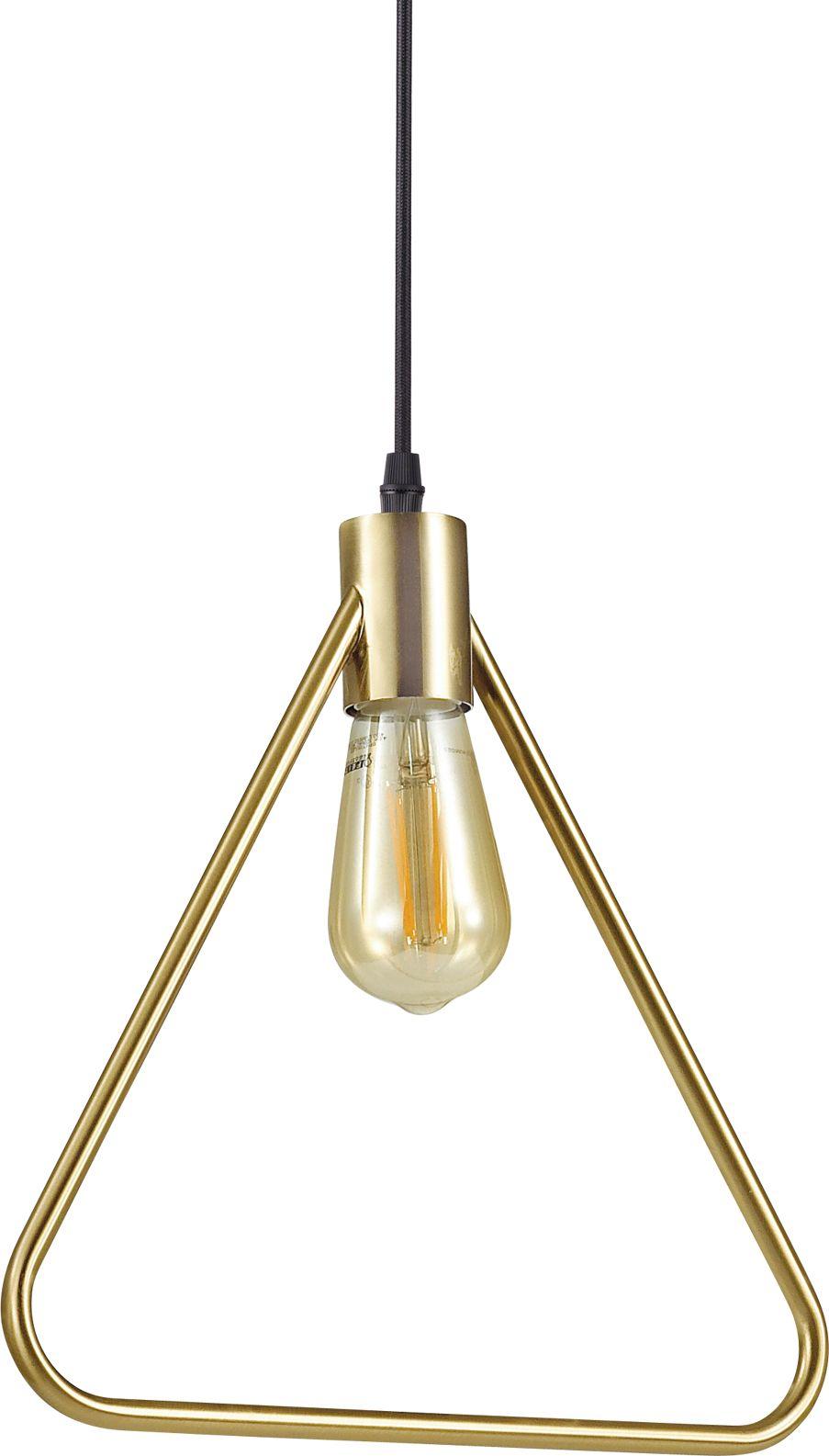 Lampa wisząca Abc SP1 Triangle 207834 Ideal Lux mosiężna oprawa w stylu design