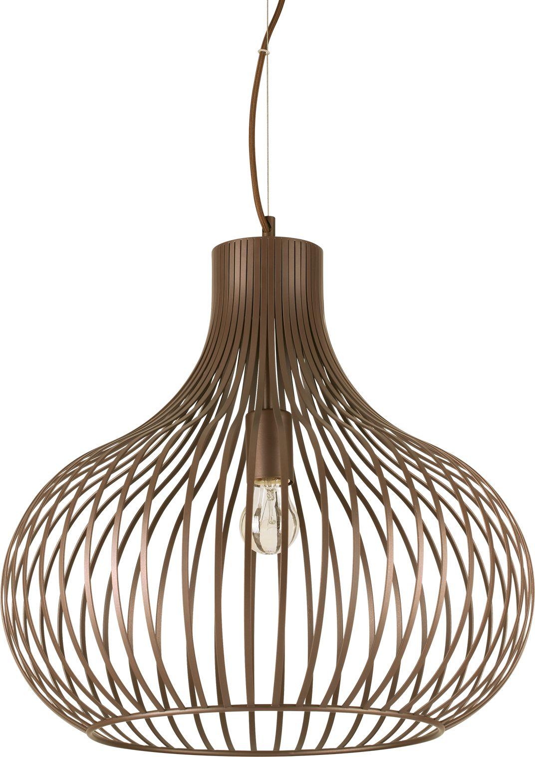 Lampa sufitowa Onion SP1 D48 205304 Ideal Lux nowoczesna oprawa sufitowa w kolorze brązowym