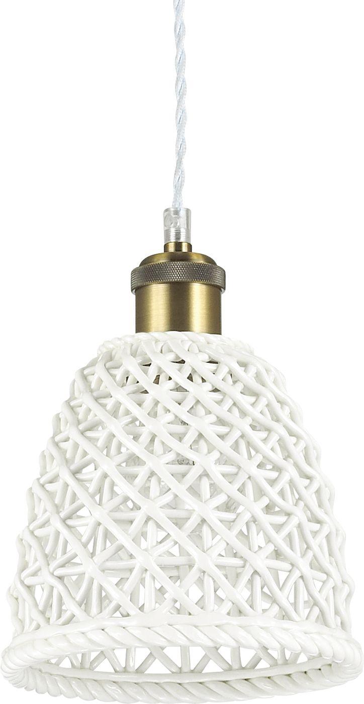 Lampa sufitowa Lugano SP1 D18 206820 Ideal Lux nowoczesna oprawa w kolorze białym
