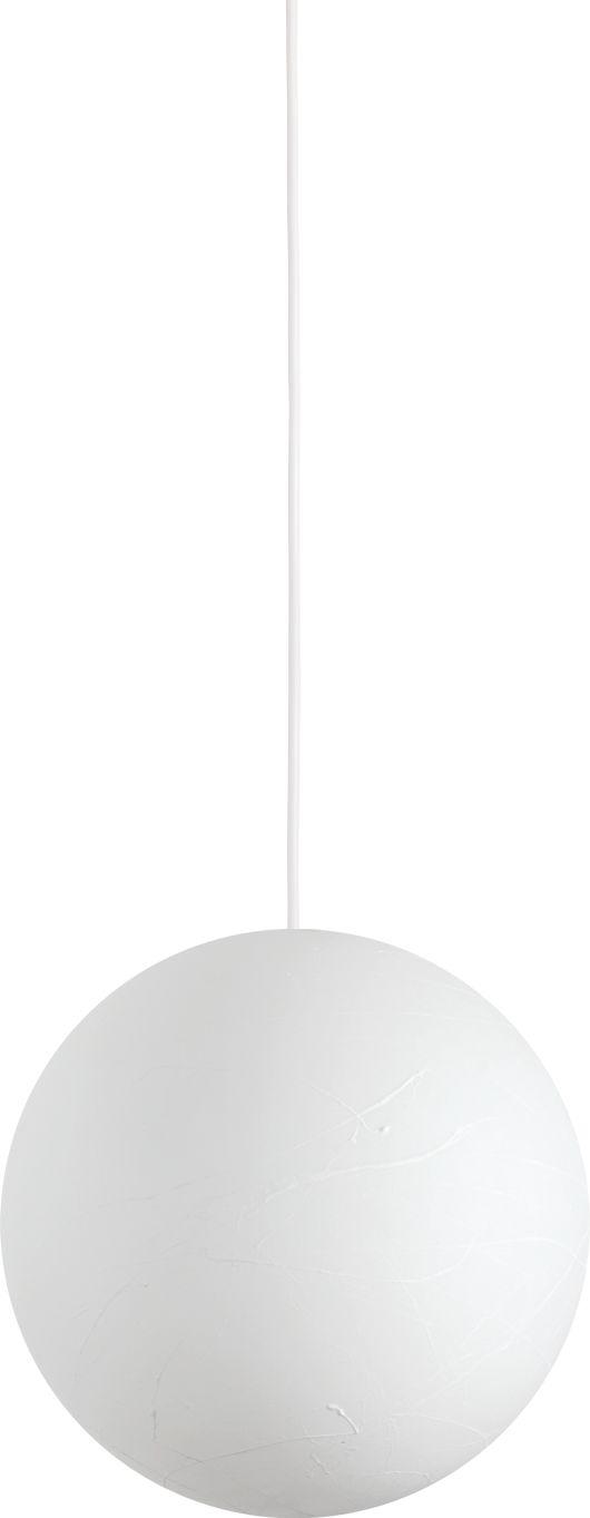 Lampa wisząca Carta 226026 Ideal Lux nowoczesna oprawa w kształcie kuli w kolorze białym