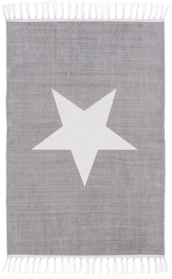 Dywan bawełniany Star siwy 60 x 90 cm Inspire