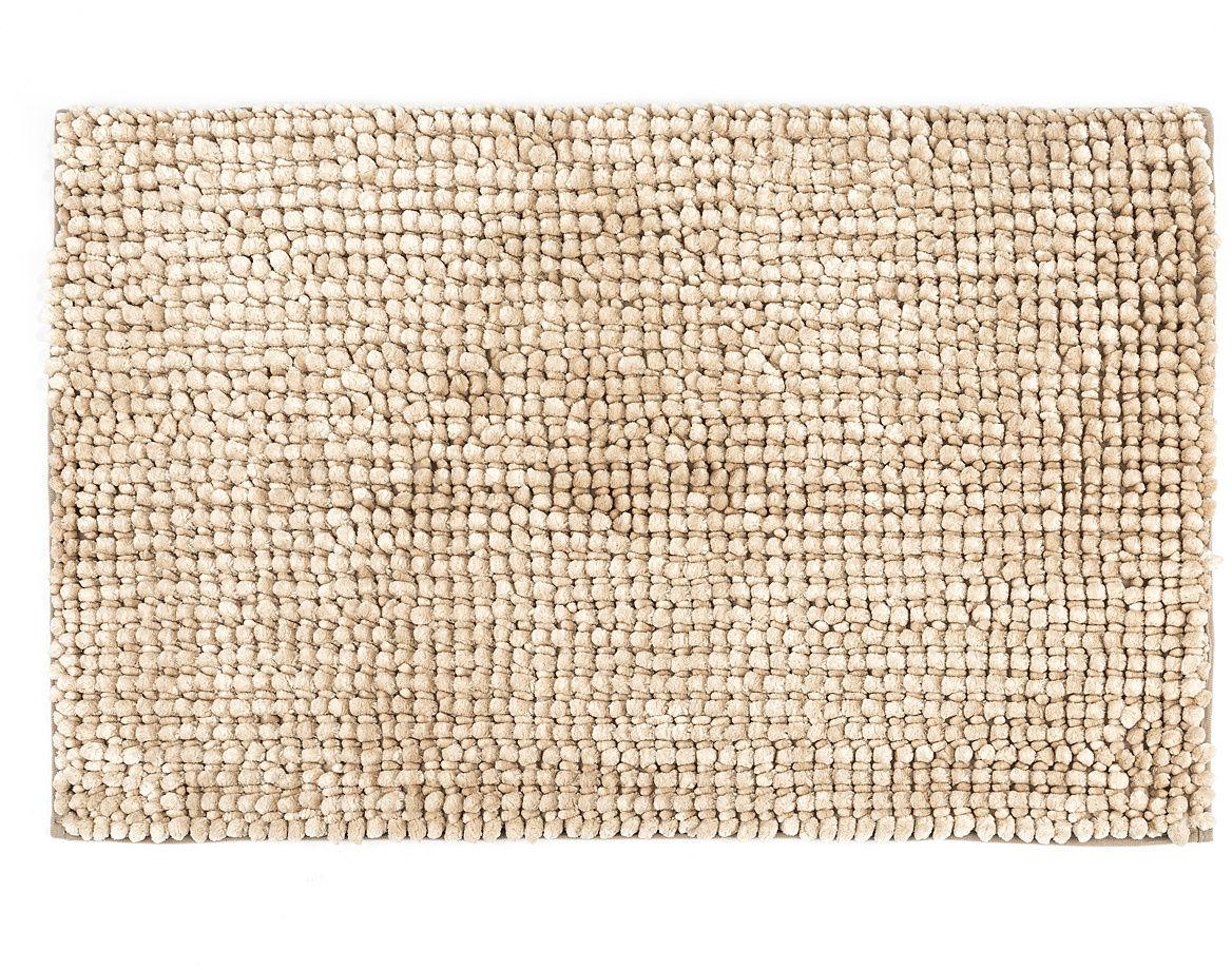 Mata łazienkowa Ella micro beżowa, 60 x 90 cm