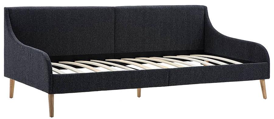 Efektowne tapicerowane łóżko Welles  szare