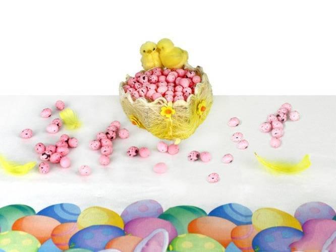 Jajka styropianowe przepiórcze nakrapiane różowe - 2 cm - 100 szt.