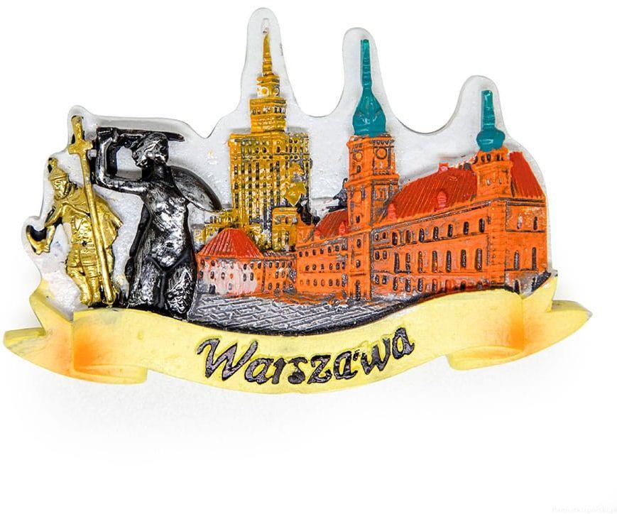 Magnes malowany panorama Warszawa