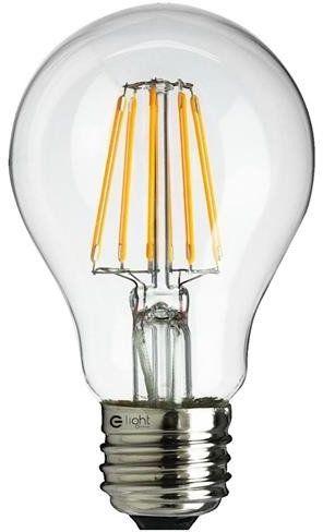 Żarówka ozdobna Filamentowa LED 6W A60 E27 barwa ciepła 2700K EKZF594
