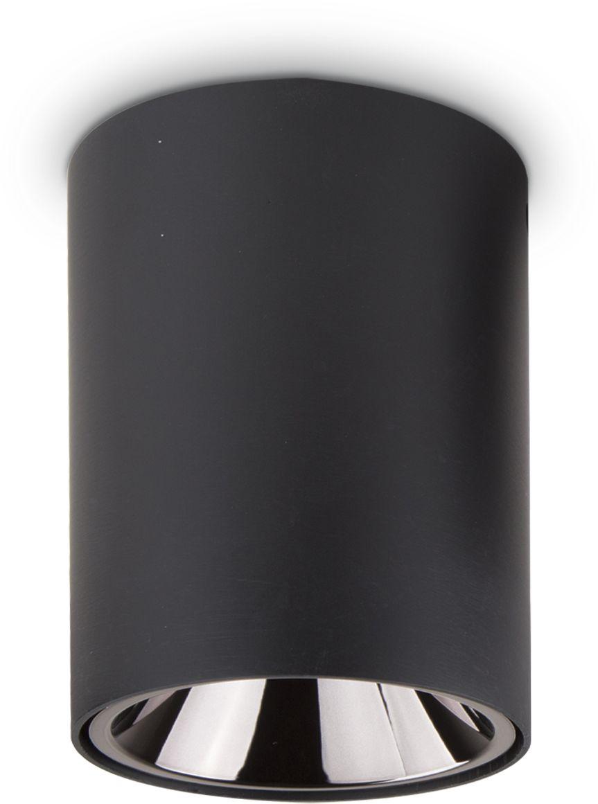Plafon Nitro 15W Round 205977 Ideal Lux nowoczesna oprawa sufitowa w kolorze czarnym