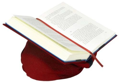 Klein & More Podpórka do książek Leselotte czerwona poduszka do czytania dla wygodnego czytania, bawełna