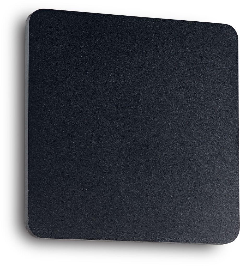 Kinkiet Cover AP1 Square Small 195728 Ideal Lux nowoczesna oprawa ścienna w kolorze czarnym