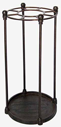 Better & Best stojak na parasol, okrągły, 8 sztuk, czarny, wymiary 32 x 32 x 62 cm, materiał: metal, kolor złoty, rozmiar uniwersalny