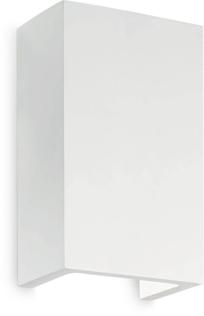 Kinkiet Flash Gesso AP1 High 214689 Ideal Lux nowoczesna oprawa ścienna w kolorze białym