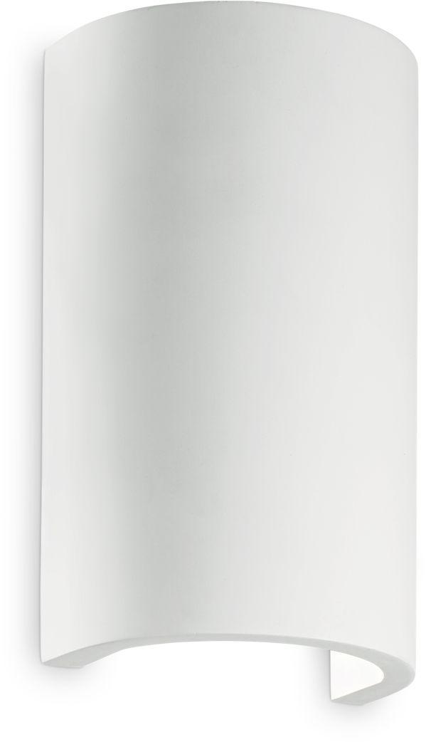 Kinkiet Flash Gesso AP1 Round 214696 Ideal Lux nowoczesna oprawa ścienna w kolorze białym
