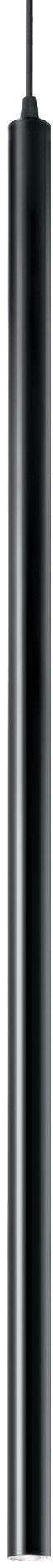 Lampa wisząca Ultrathin SP1 Big Round 142913 Ideal Lux nowoczesna oprawa w kolorze czarnym