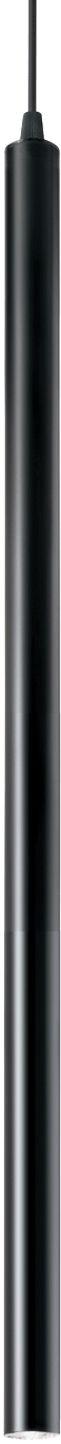 Lampa wisząca Ultrathin SP1 Small Round 156699 Ideal Lux nowoczesna oprawa w kolorze czarnym