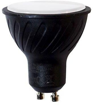 Czarna żarówka LED 7W GU10 barwa neutralna 4000K EKZA667