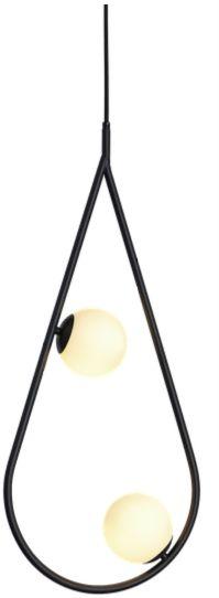 Droplet 2 Black - nowoczesna lampa wisząca