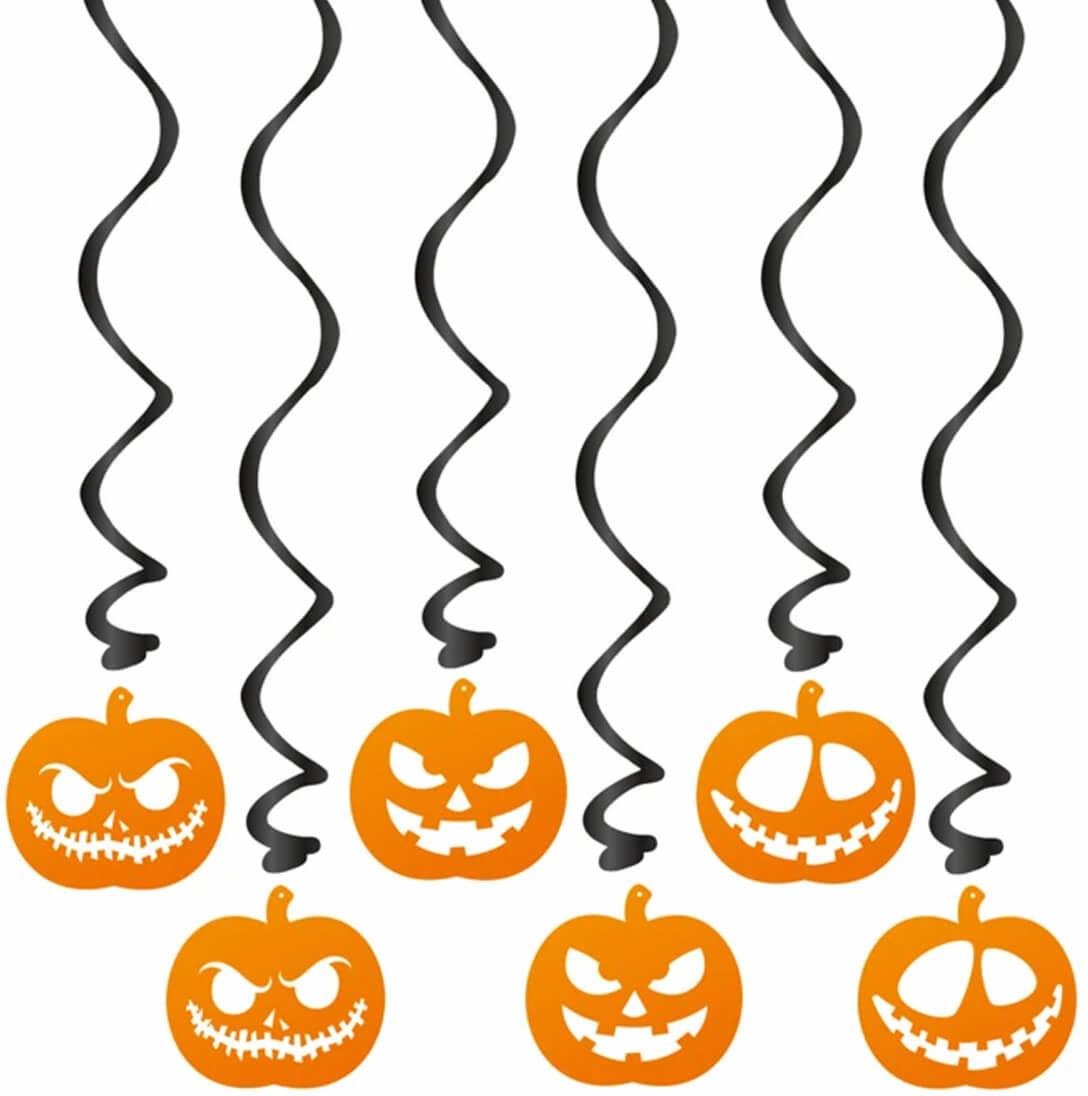Świderki Dynie na Halloween - 6 szt.
