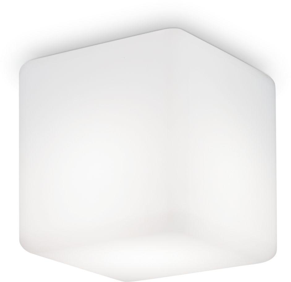 Plafon Luna PL1 Small 213200 Ideal Lux nowoczesna oprawa sufitowa zewnętrzna w kolorze białym