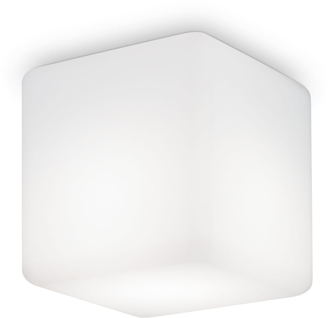 Plafon Luna PL1 Medium 213194 Ideal Lux nowoczesna oprawa sufitowa zewnętrzna w kolorze białym
