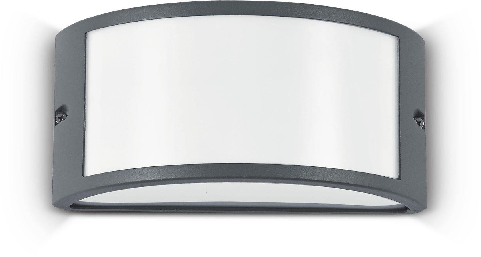 Kinkiet Rex-1 AP1 092409 Ideal Lux nowoczesna oprawa zewnętrzna w kolorze antracytu