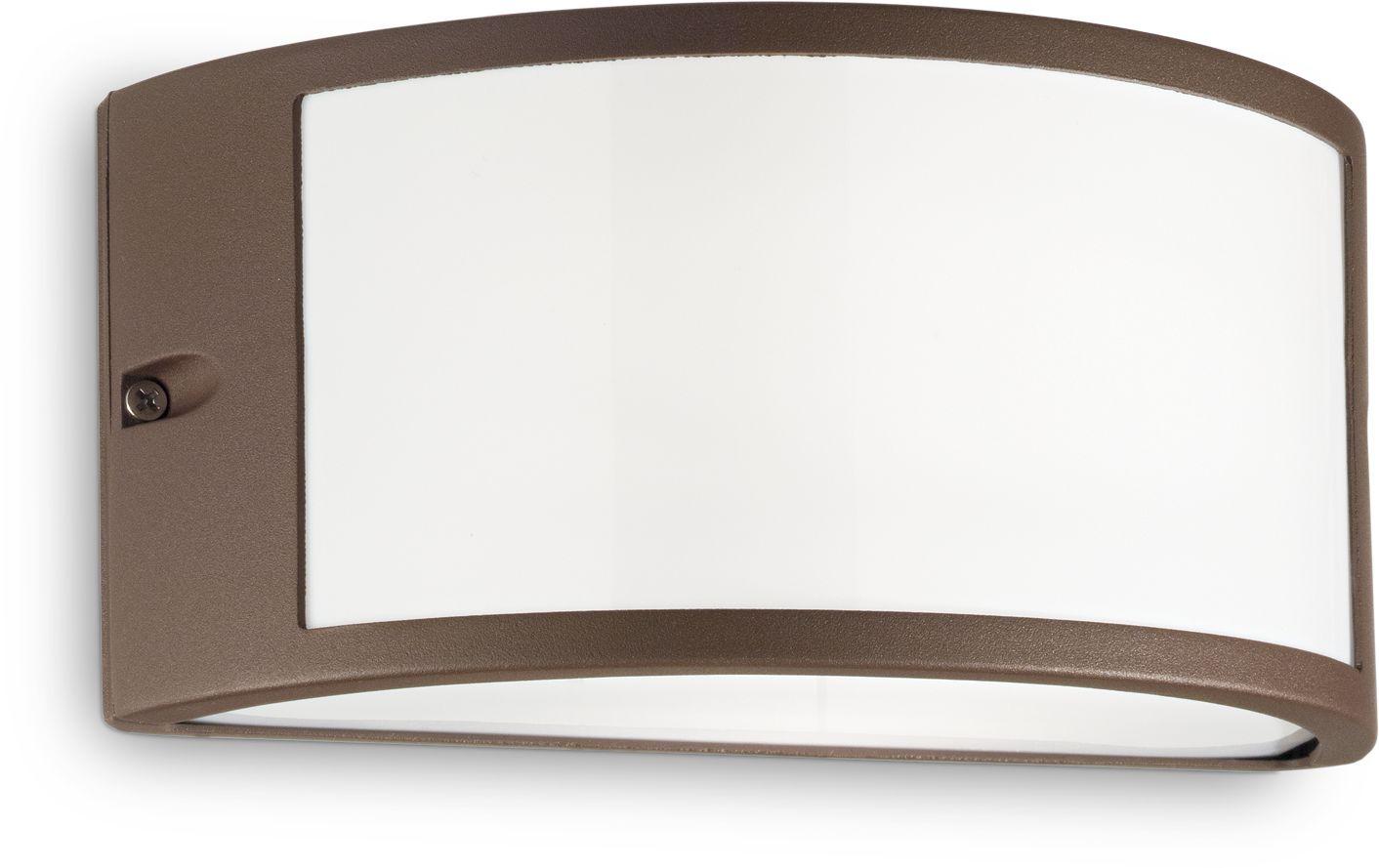 Kinkiet Rex-1 AP1 213217 Ideal Lux nowoczesna oprawa zewnętrzna w kolorze kawowym