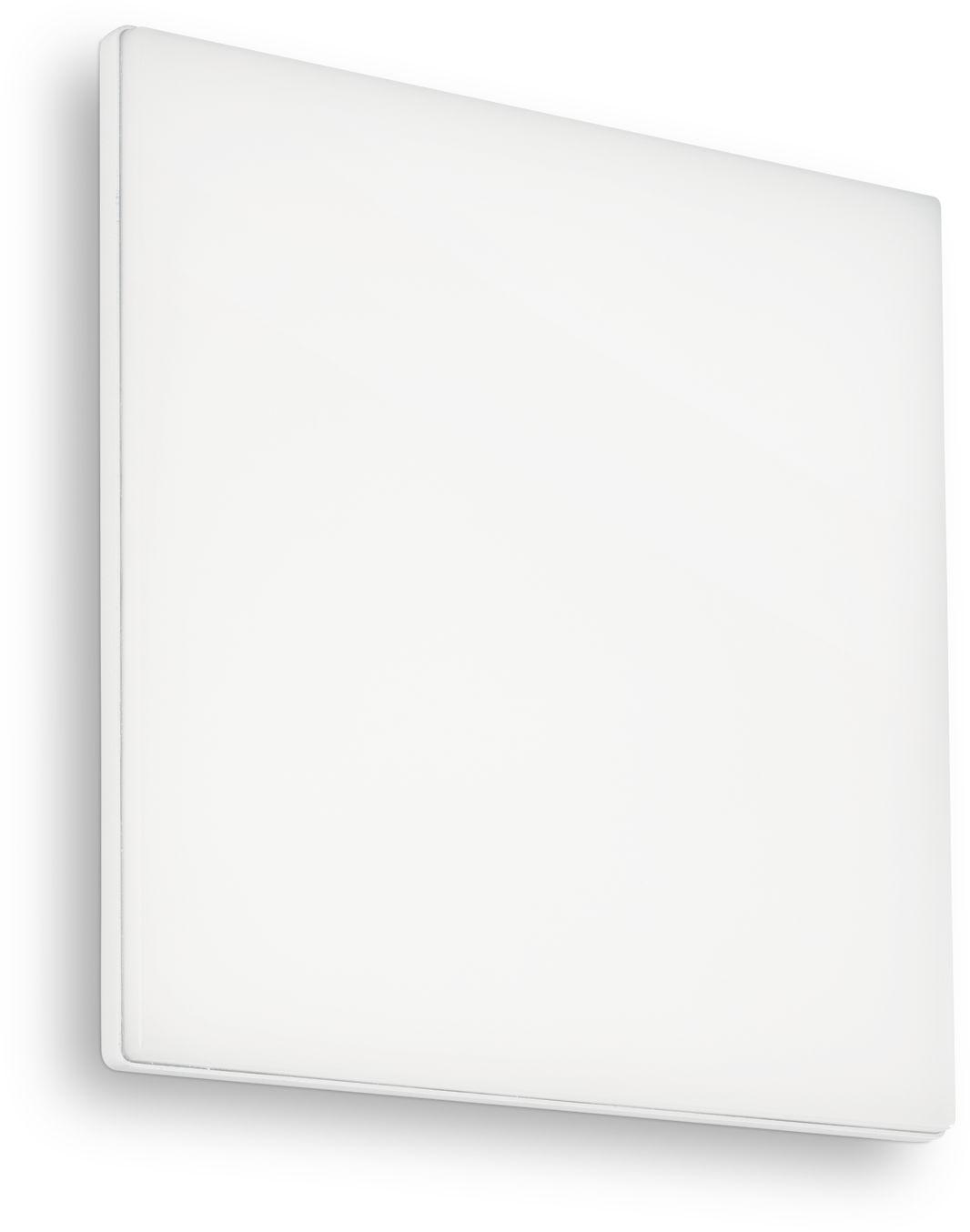 Plafon Mib PL1 Square 202921 Ideal Lux nowoczesna oprawa zewnętrzna w kolorze białym