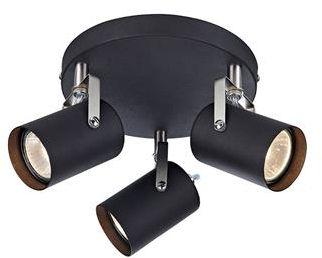 Plafon Key 106422 Markslojd potrójna czarna lampa sufitowa