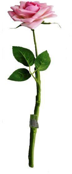 Sztuczna róża dekoracyjna różowa 40cm 1 sztuka VC6002-R