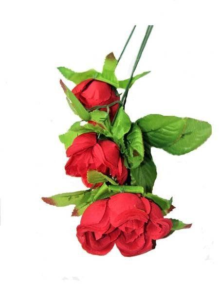 Sztuczna róża dekoracyjna czerwona 65cm 1 sztuka VC1153-czer
