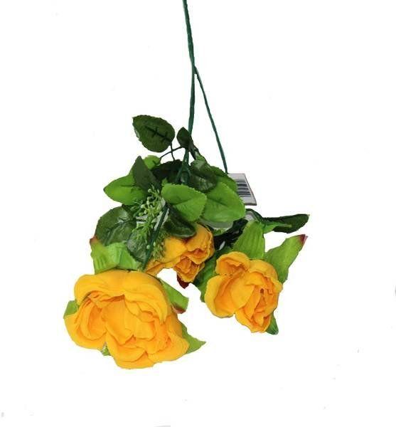 Sztuczna róża dekoracyjna żółta 65cm 1 sztuka VC1153-żół