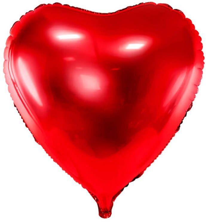 Balon foliowy Serce czerwone - 73 cm - 1 szt.