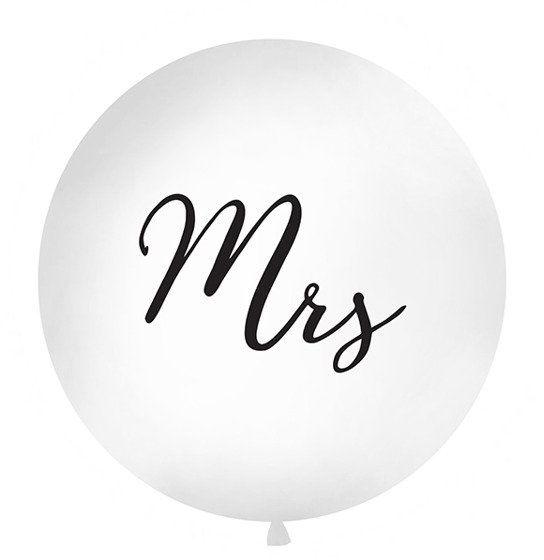 Balon olbrzym z czarnym nadrukiem Mrs 100cm OLBON11D-008